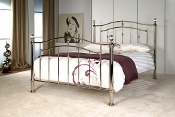 "Calisto Chrome and Crystal Bed, 4'6"" & 5ft"