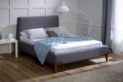 "Andromeda Slate Grey Fabric Bed, 4'6"", 5ft & 6ft"