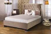 "Capella Stone Fabric Bed, 4'6"", 5ft & 6ft"
