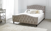 "Phobos Plush Mink Fabric Bed, 4'6"", 5ft & 6ft"